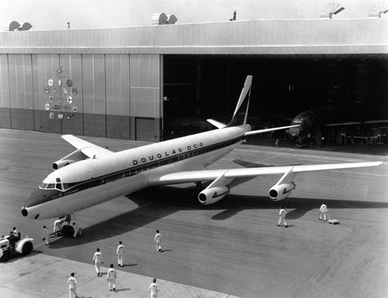 The Douglas DC-8 brought the company into the Jet Age and direct competition with Boeing's 707.   (San Diego Air & Space Museum)