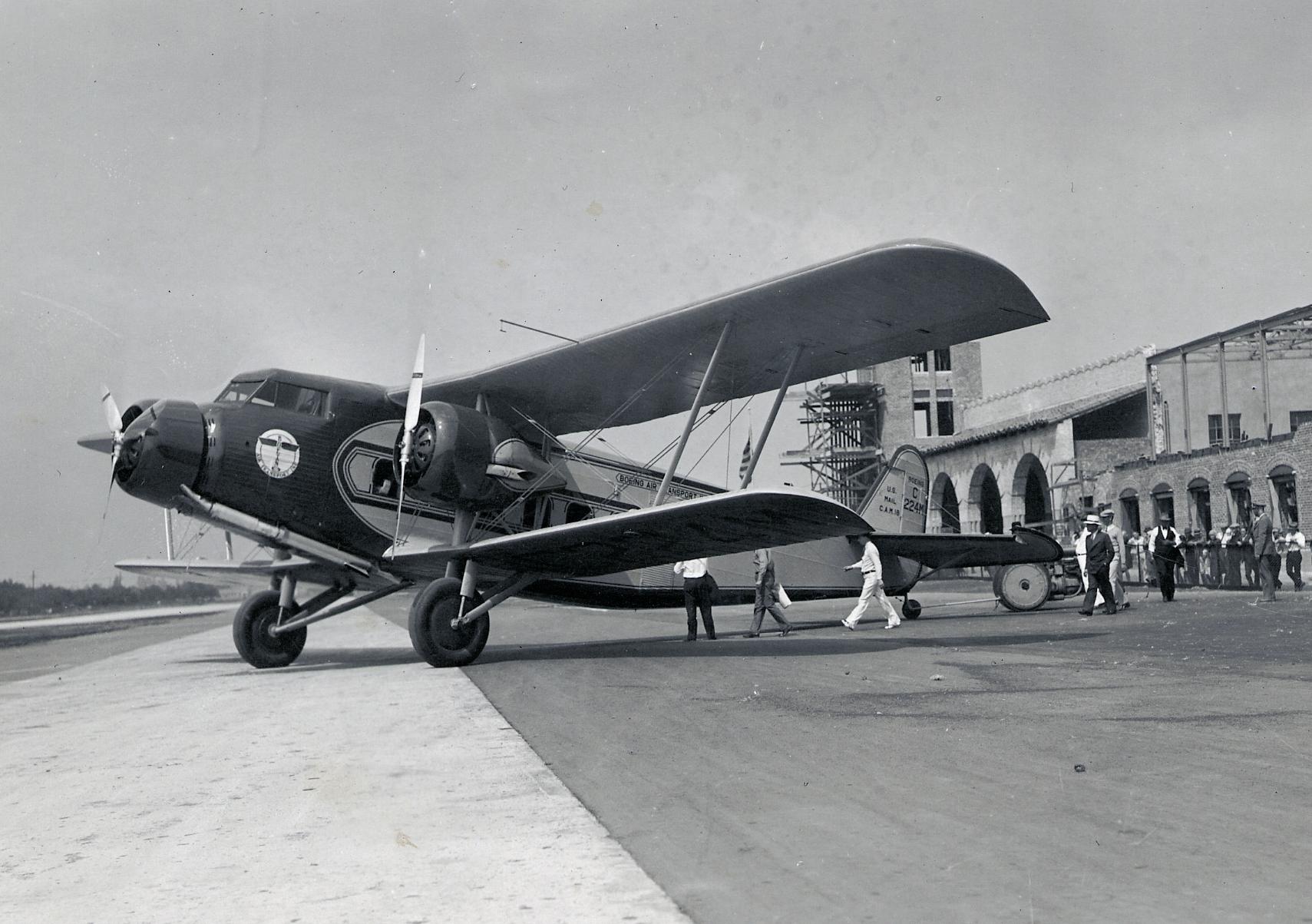 A Boeing 80A in Burbank, California  (Museum of Flight)