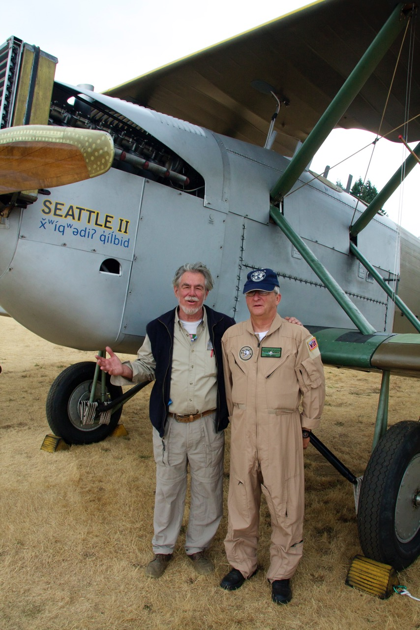 Bob with our wonderful test pilot, Carter Teeters.