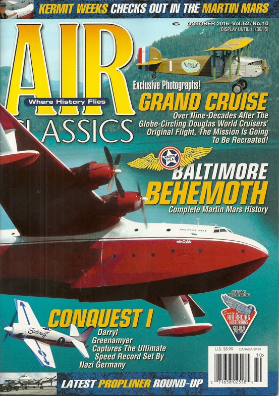 "The legendary Air Classics magazine (October 2016) issue, with the SWC ""Grand Cruise"" article."
