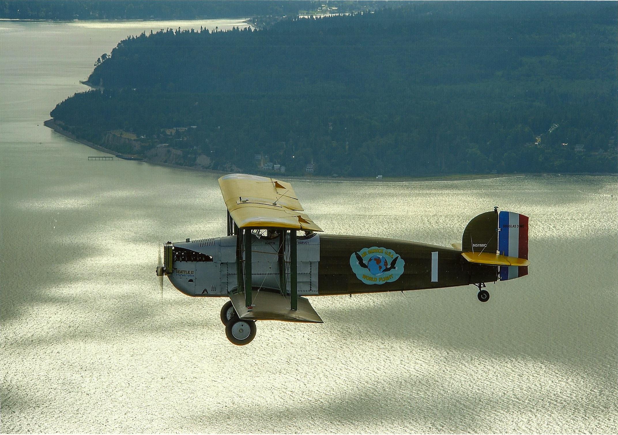 In flight over Puget Sound.     (Image courtesy Jim Larsen)