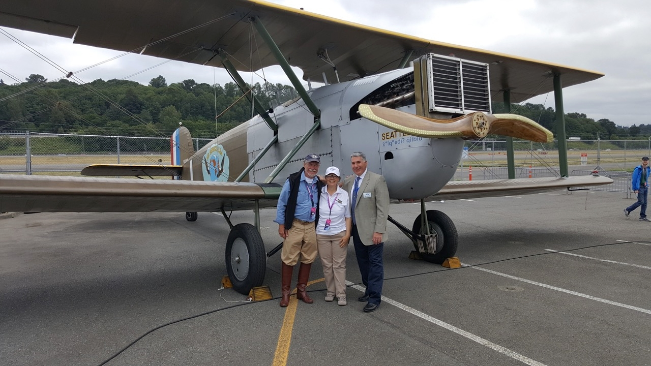 Bob, Diane and our good friend and Boeing Historian, Michael Lombardi.