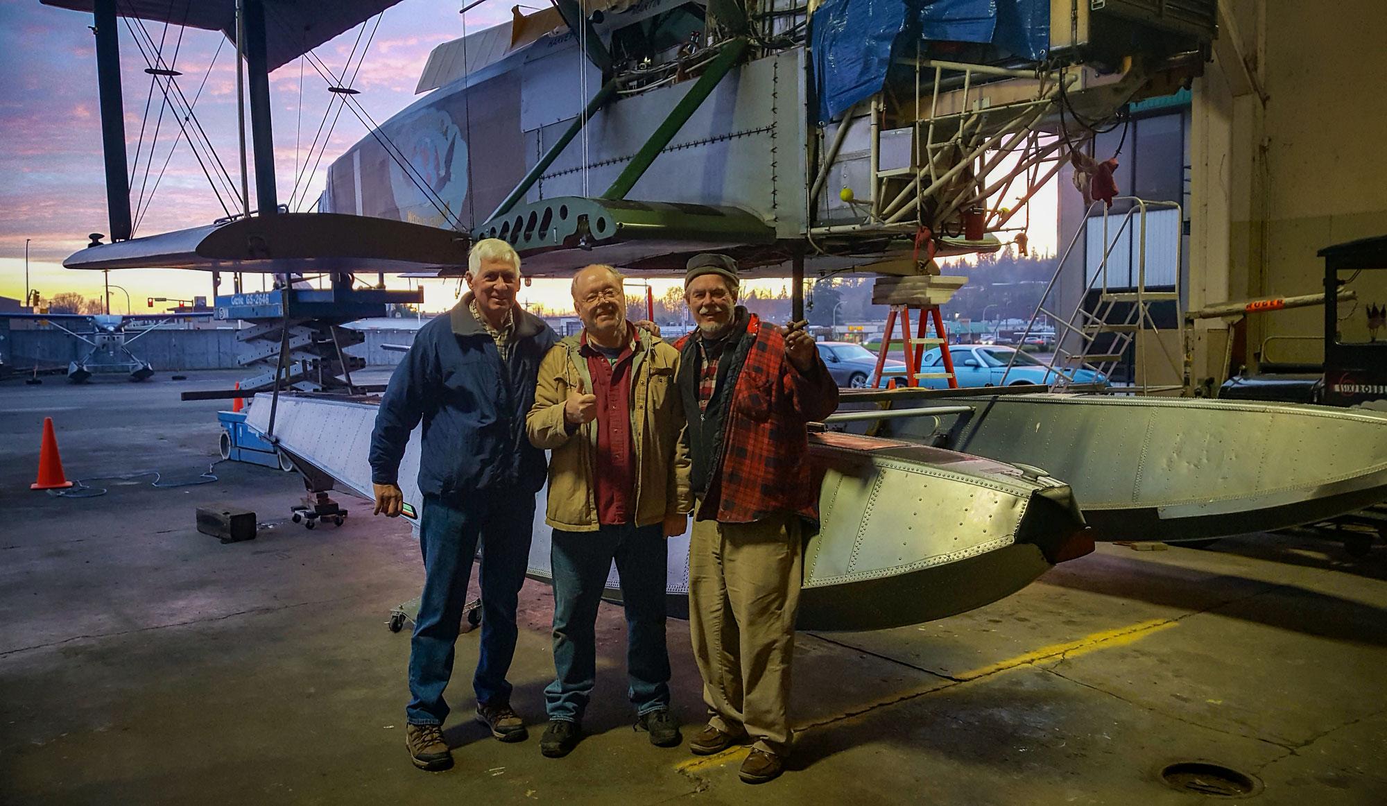 Roland Klix, Gary Carmichael & Bob.