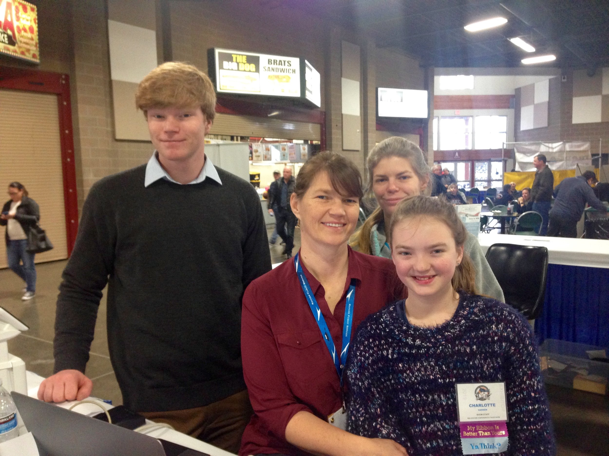 Rachel Hansen and her family. Rachel is Washington Aviation Association's NW Aviation Conference and Career Forum Trade Show Coordinator. Everyone worked diligently to make this event a great and very well attended event this year.