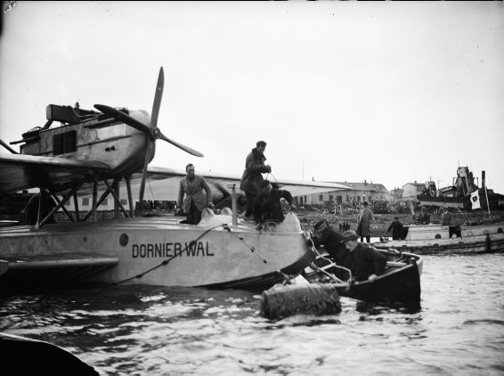 Locatelli and crew in their Dornier-Wal.