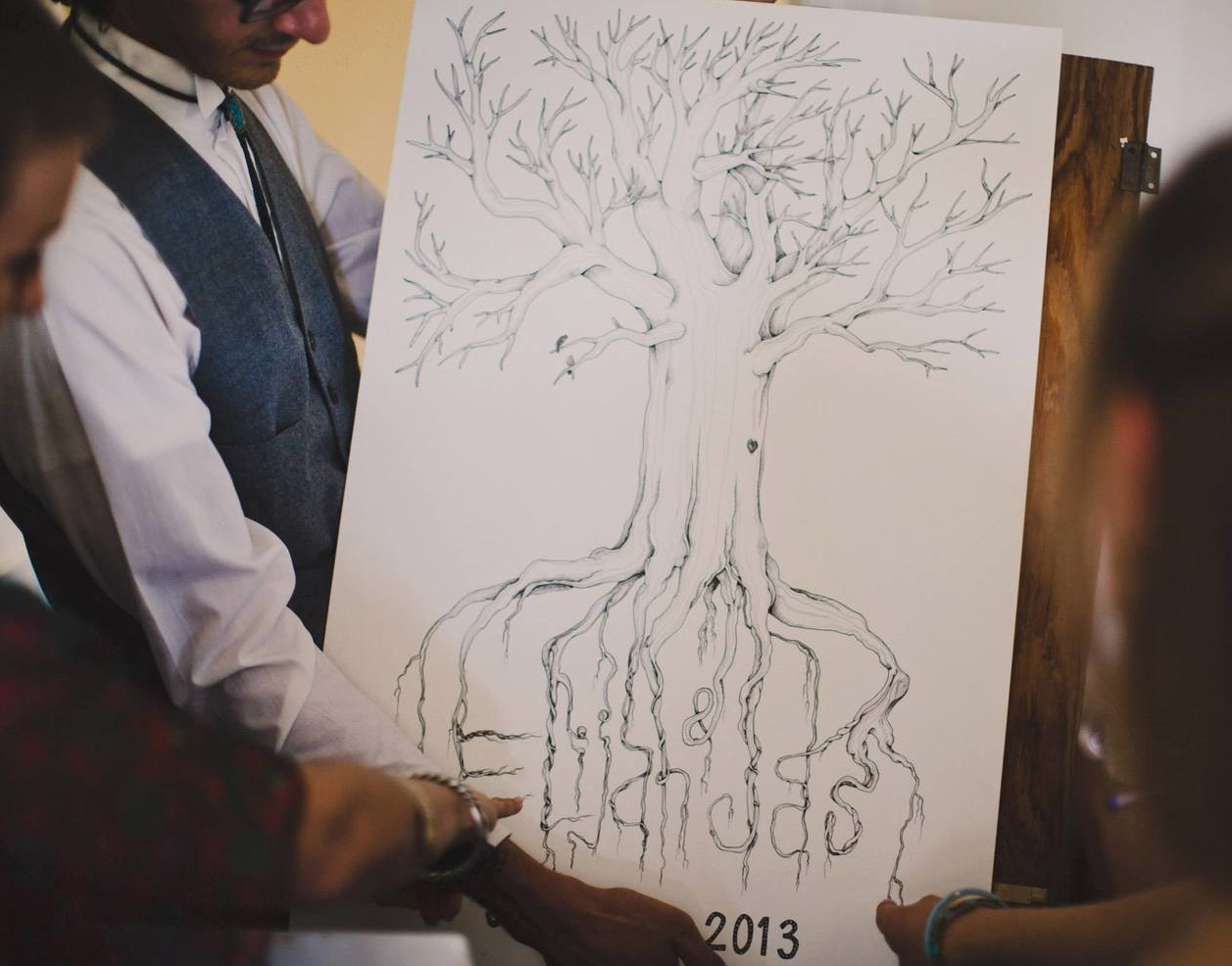"""Thumbprint Guest Book Wedding Tree"""