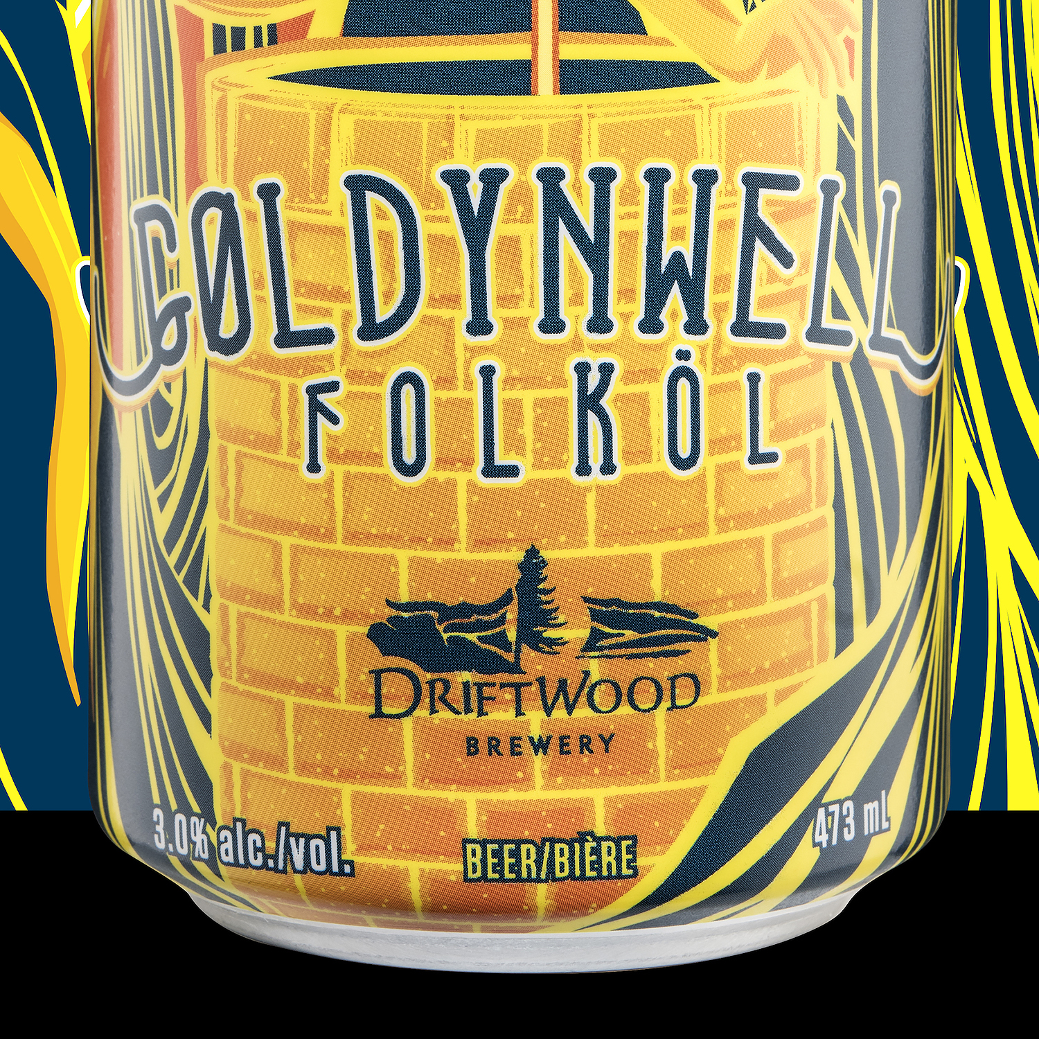 Packaging design for Goldynwell Folkol, for Driftwood Brewery