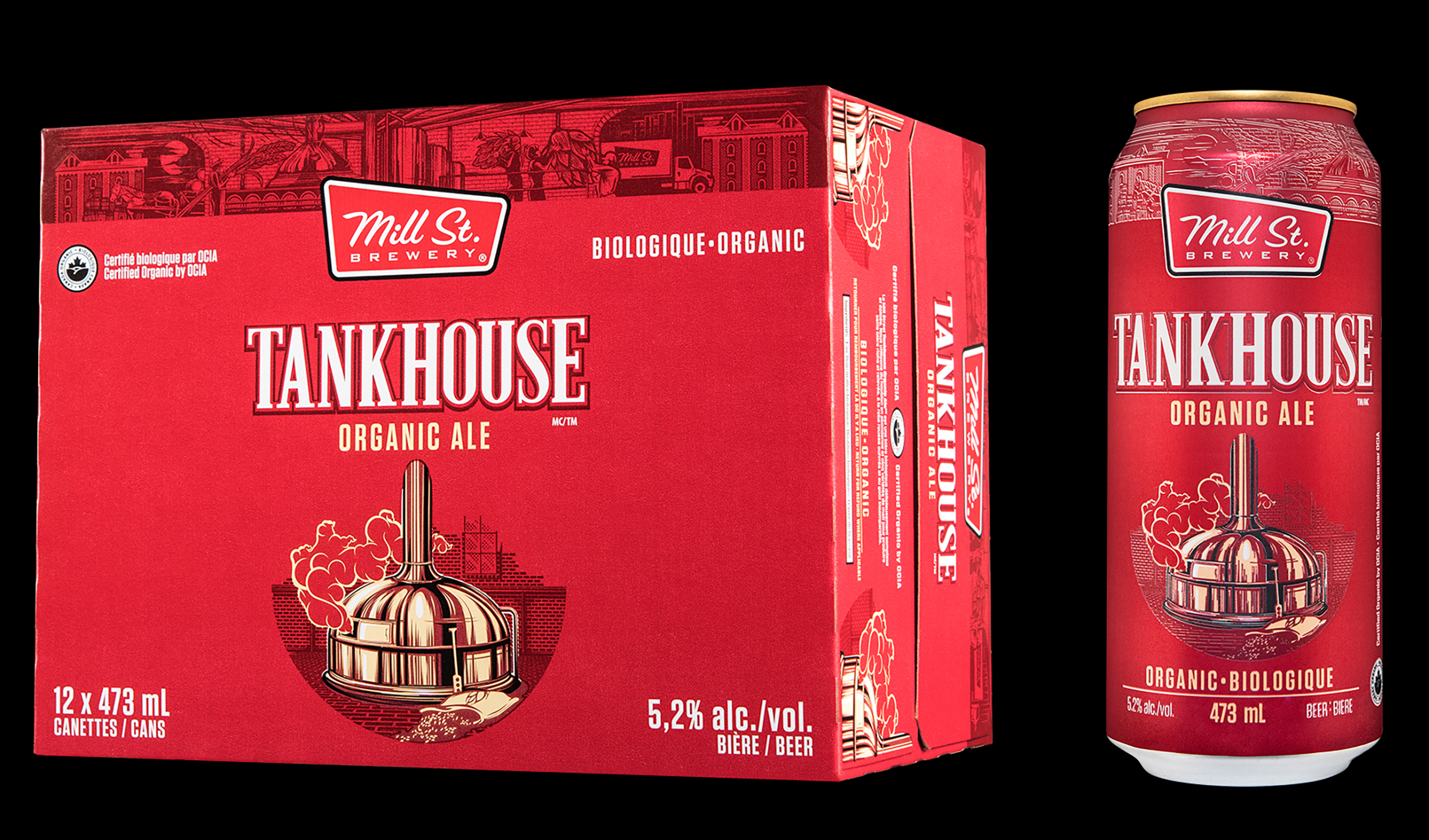 Packaging Design for Tankhouse Organic Ale, for Mill Street Brewery