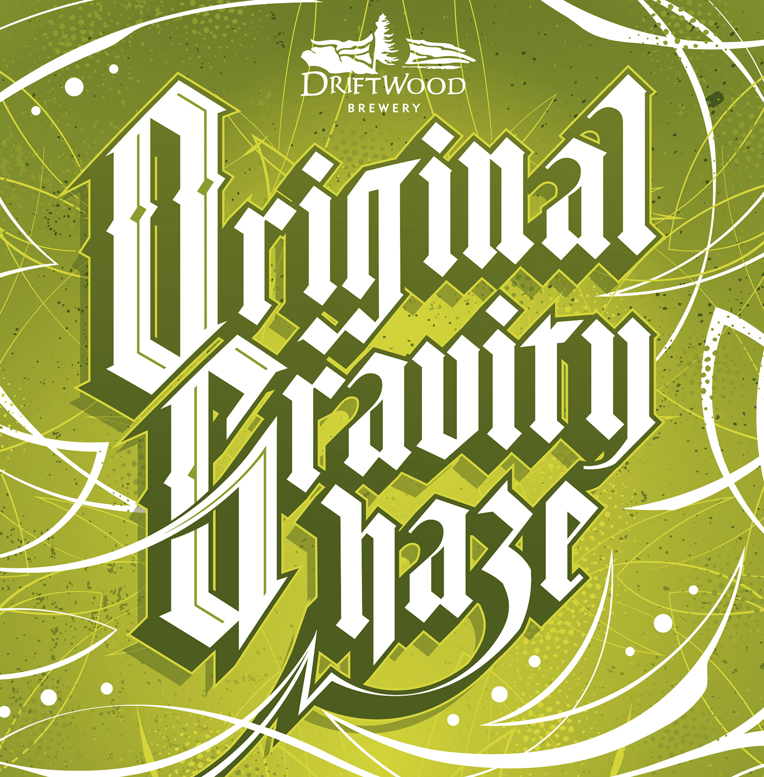 Original Gravity Haze packaging design, for Driftwood Brewery