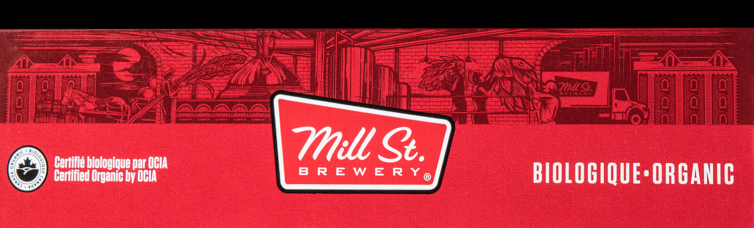 Illustrated top bad for Mill Street Brewery's packaging design