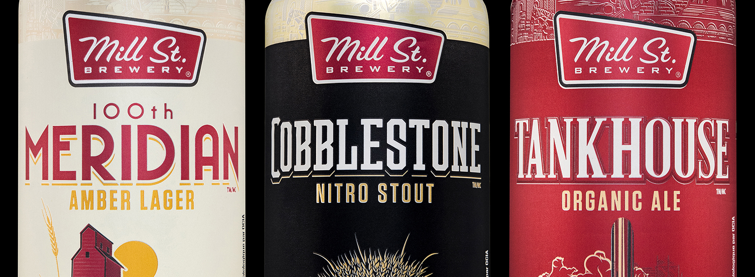 Custom Typography for Mill Street Brewing's packaging design