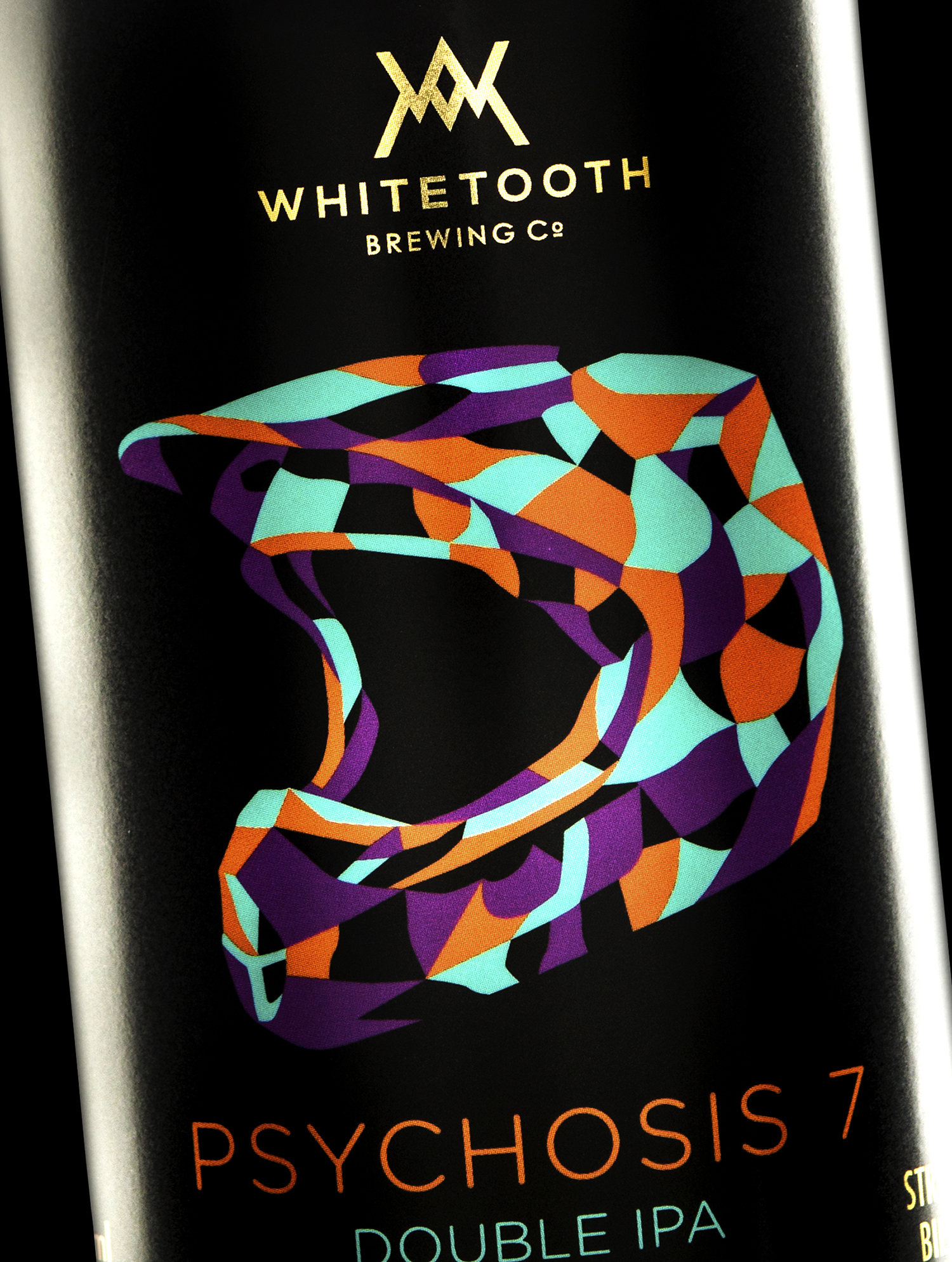 Branding and Packaging Design for Whitetooth Brewing's Psychosis 7 Double IPA