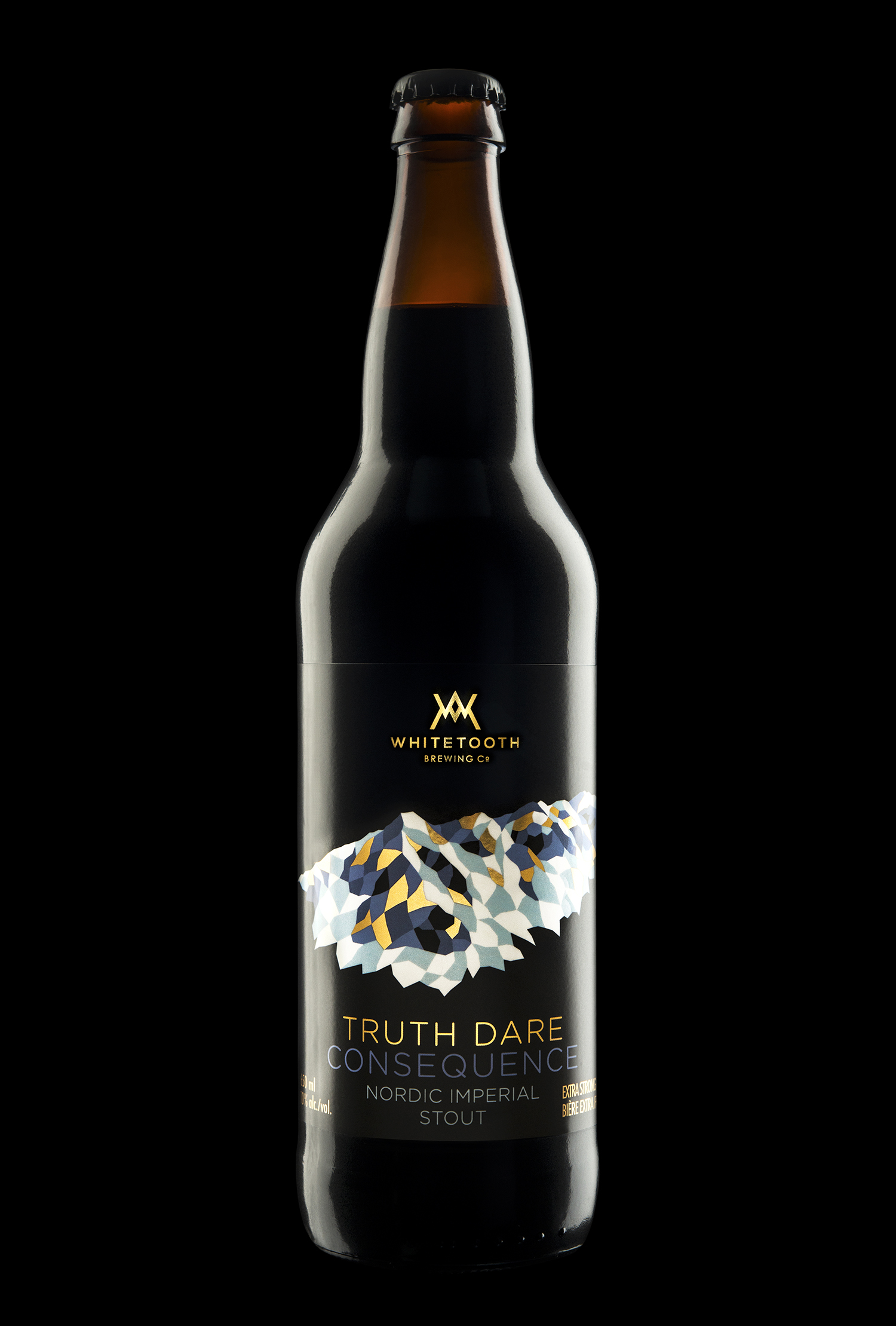 Branding and Packaging Design for Whitetooth Brewing's Truth Dare Consequences Nordic Imperial Stout