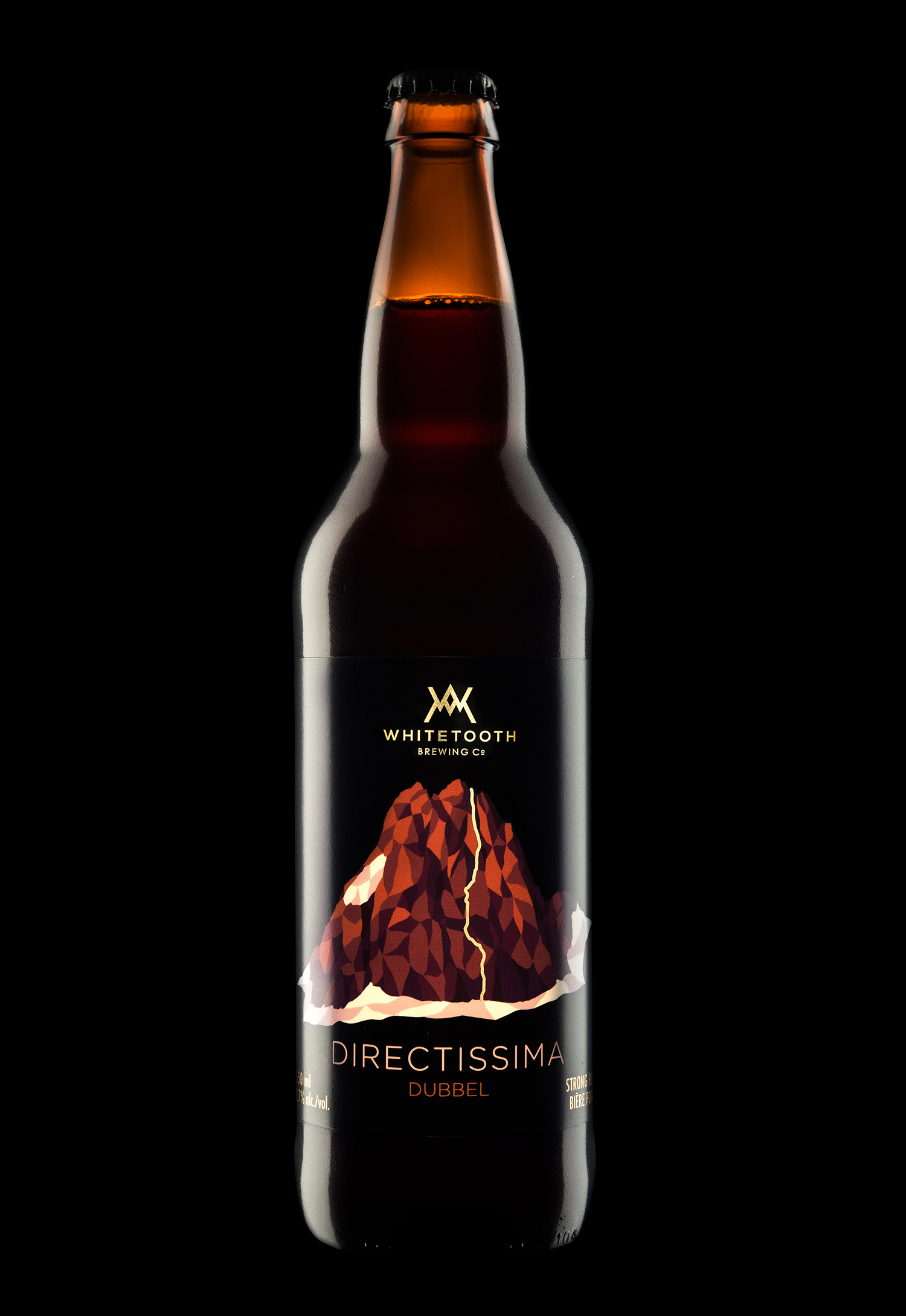 Branding and Packaging Design for Whitetooth Brewing's Directissima Dubbel