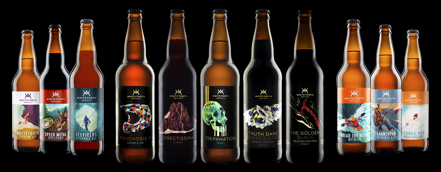 Whitetooth Brewing's High Gravity Series With Their Core Beers