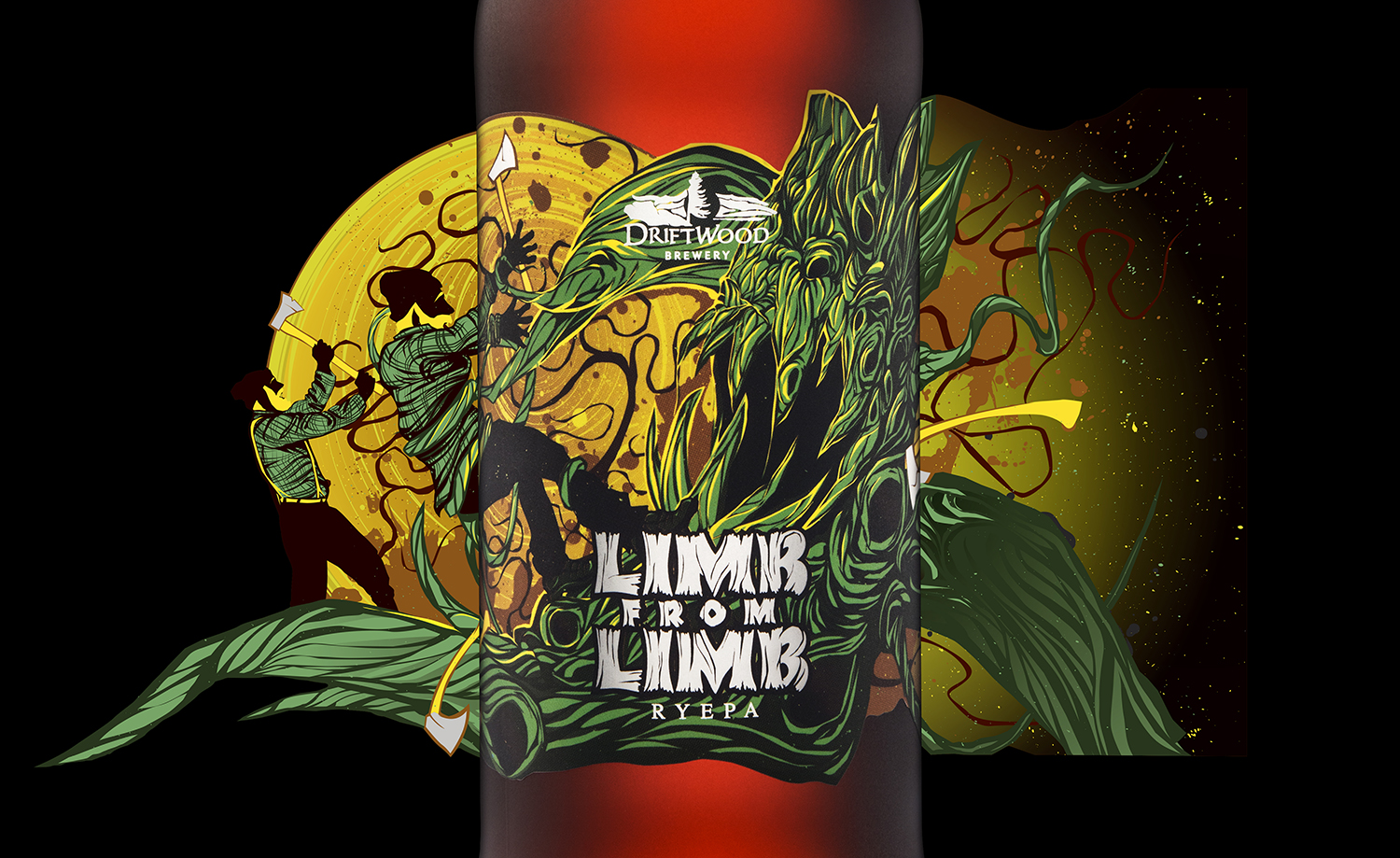 Packaging Design for Driftwood Brewery's Limb From Limb RyePa