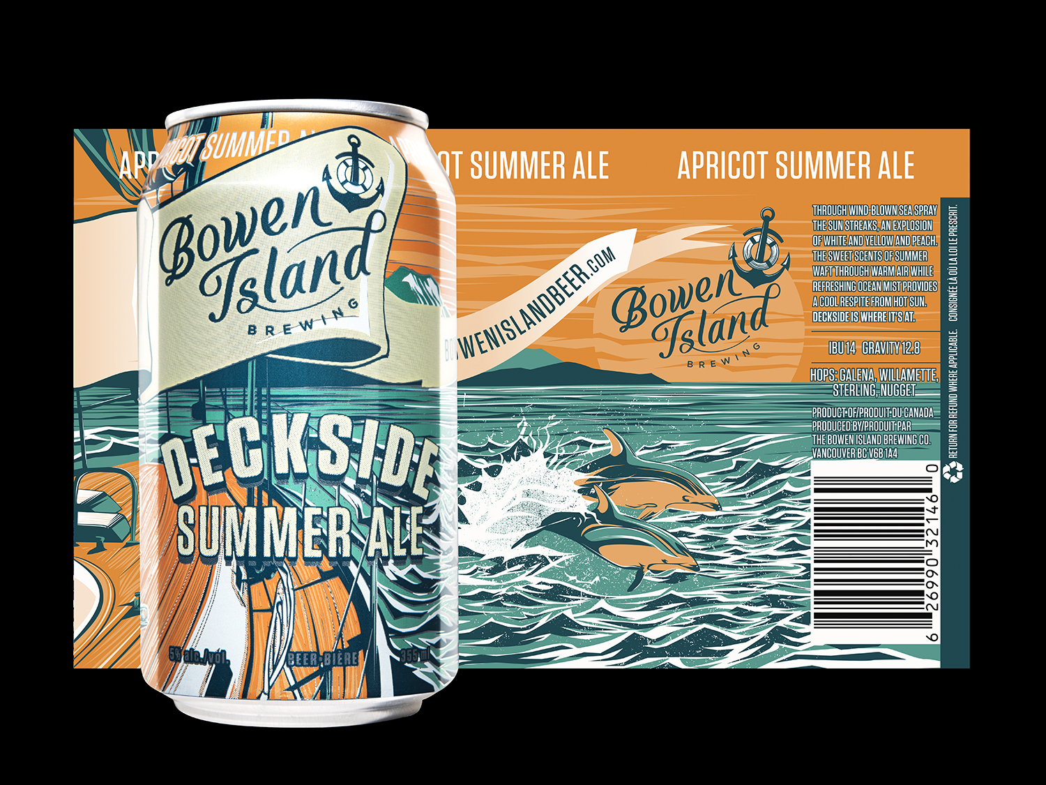 Branding and Packaging Design for Bowen Island Brewing