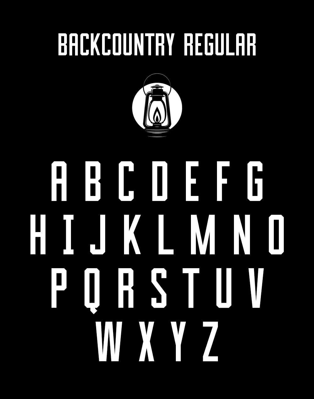 Custom Typeface Design for Backcountry Brewery