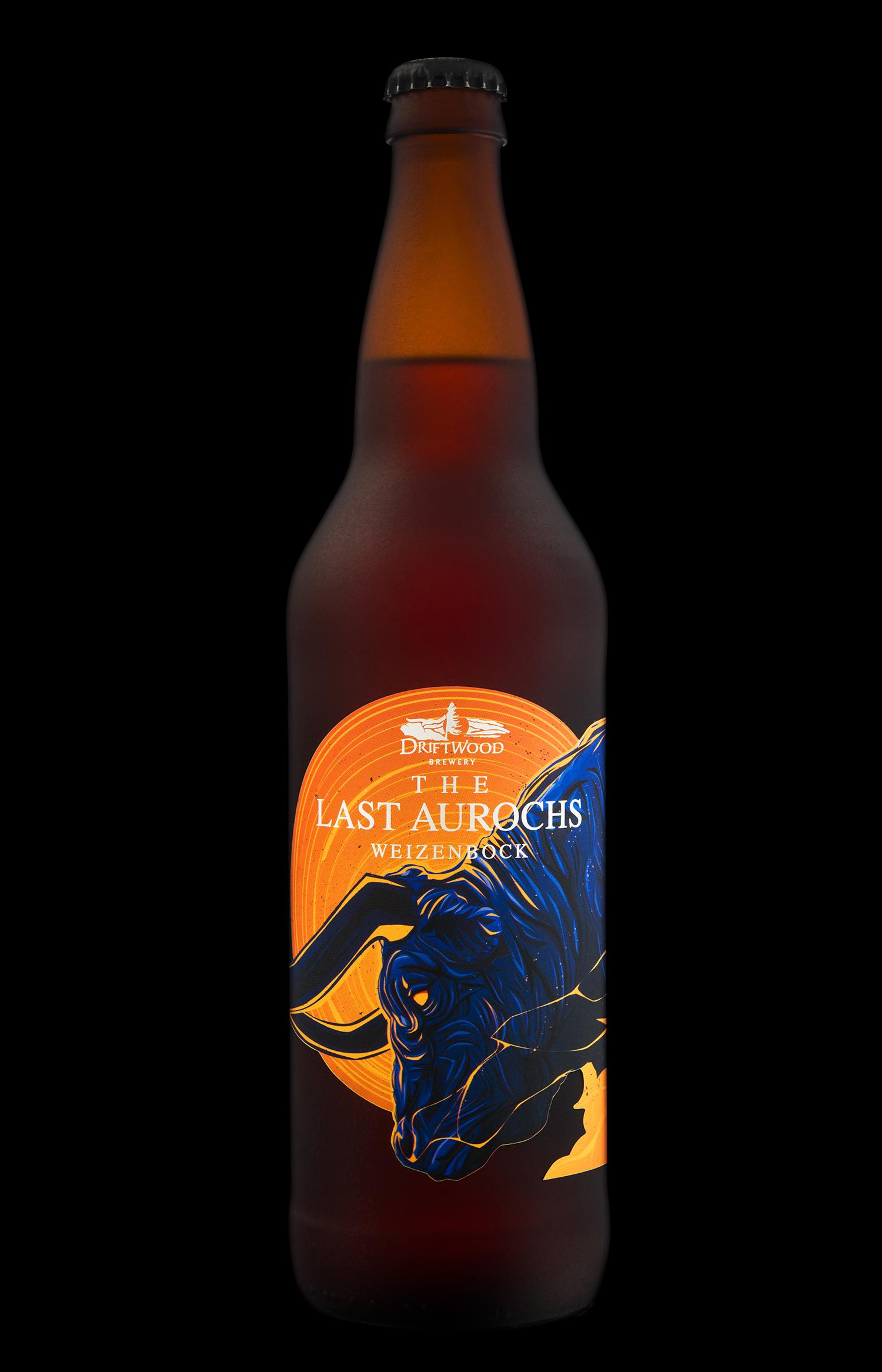 Packaging Design for Driftwood Brewery's Last Aurochs Weizenbock