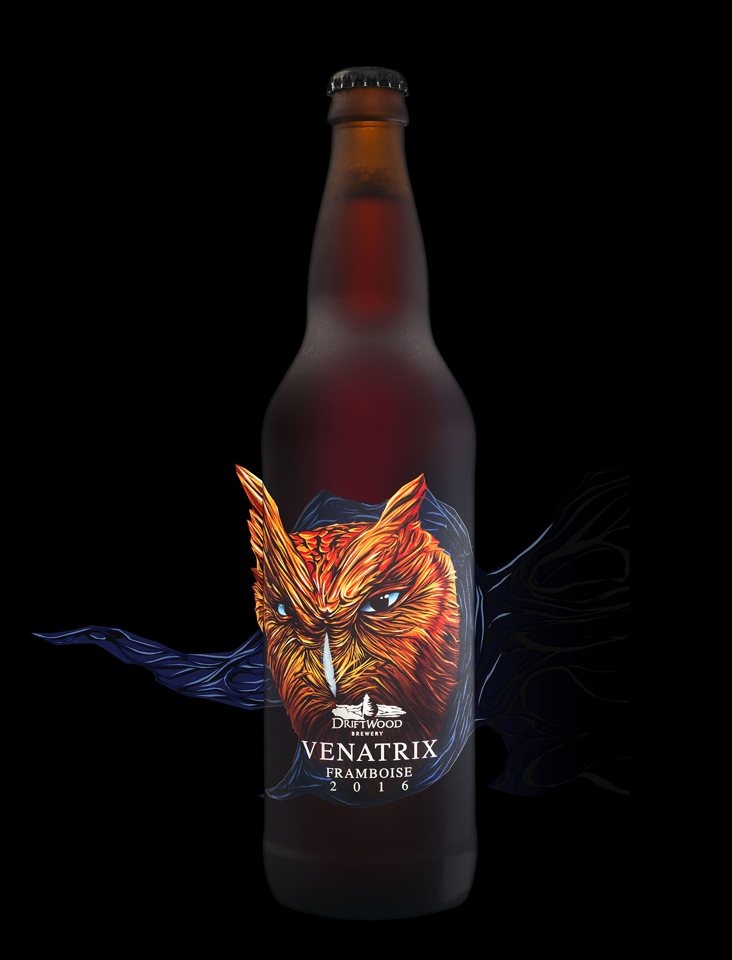Packaging Design for Driftwood Brewery's Venatrix Framboise