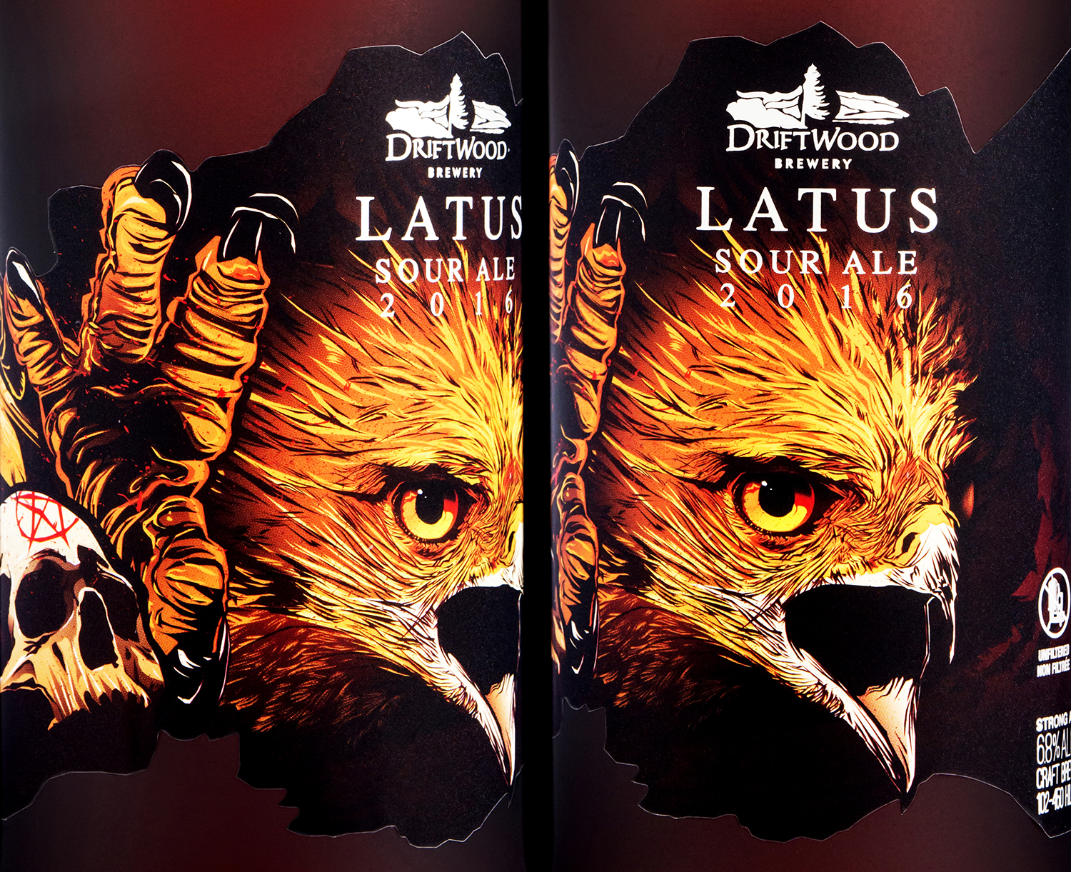 Packaging Design for Driftwood Brewery's Latus Sour Ale