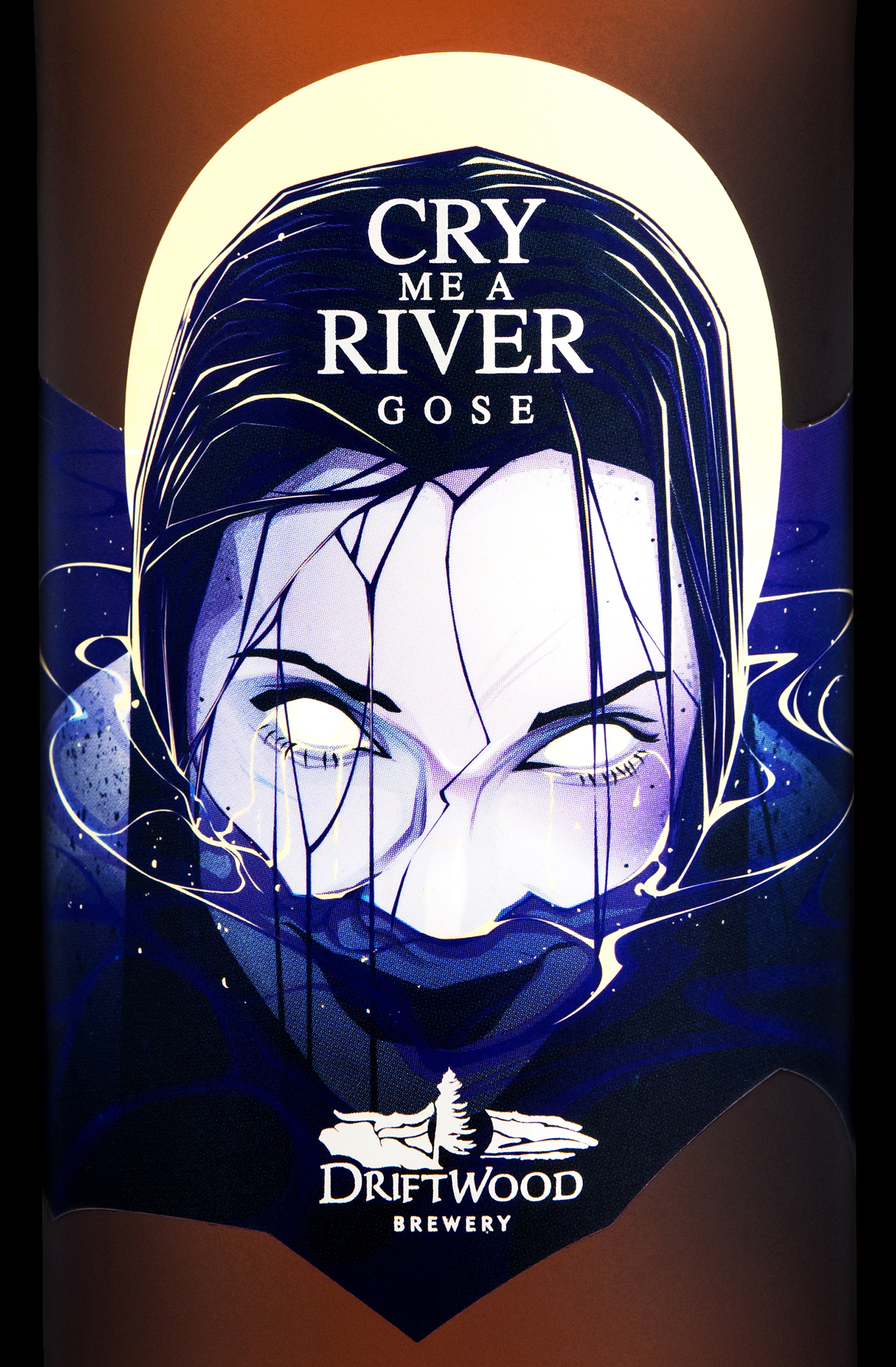 Packaging Design for Driftwood Brewery's Cry Me A River Gose