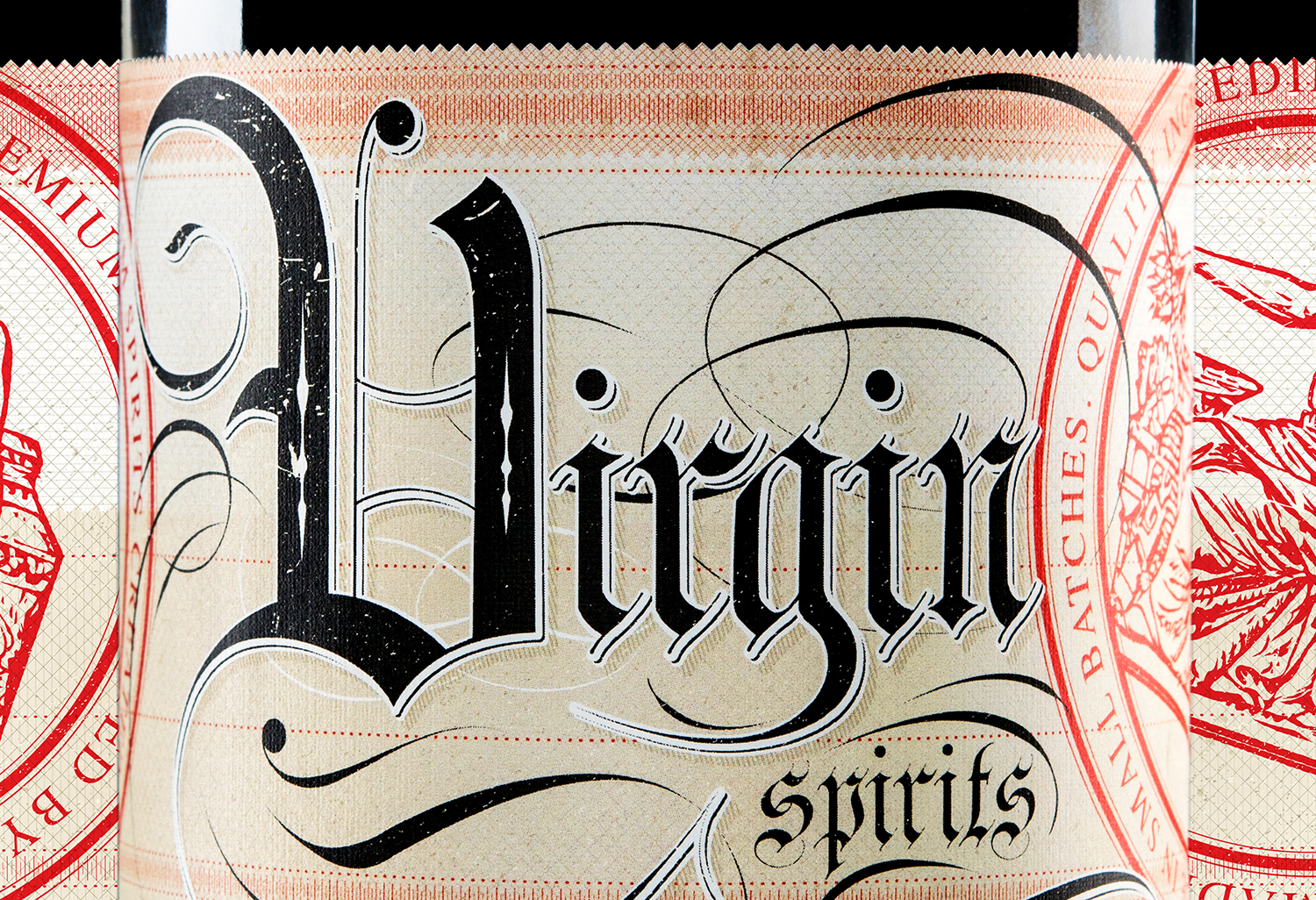 Packaging Design for Dubh Glas Distillery's white whiskey, Virgin Spirits