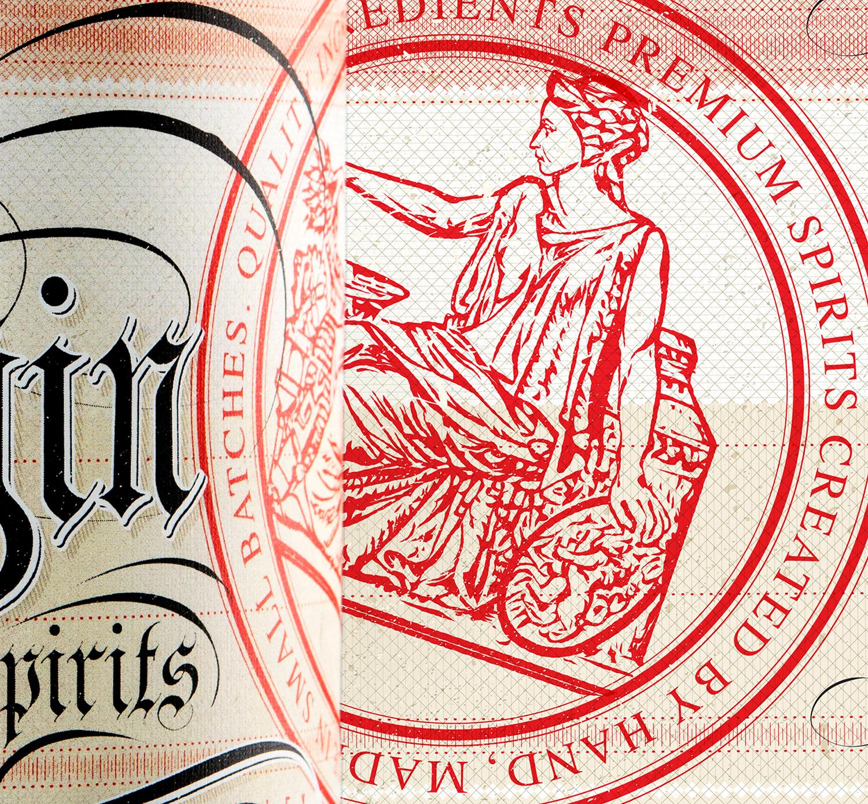 Packaging Design for Dubh Glas Distillery's white whiskey, Virgin Spirits