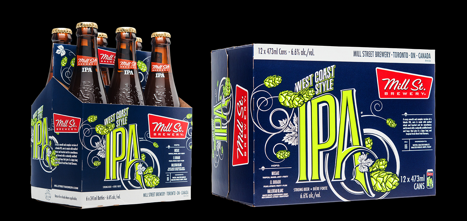 Packaging Design for Mill Street Brewing's West Coast Style IPA