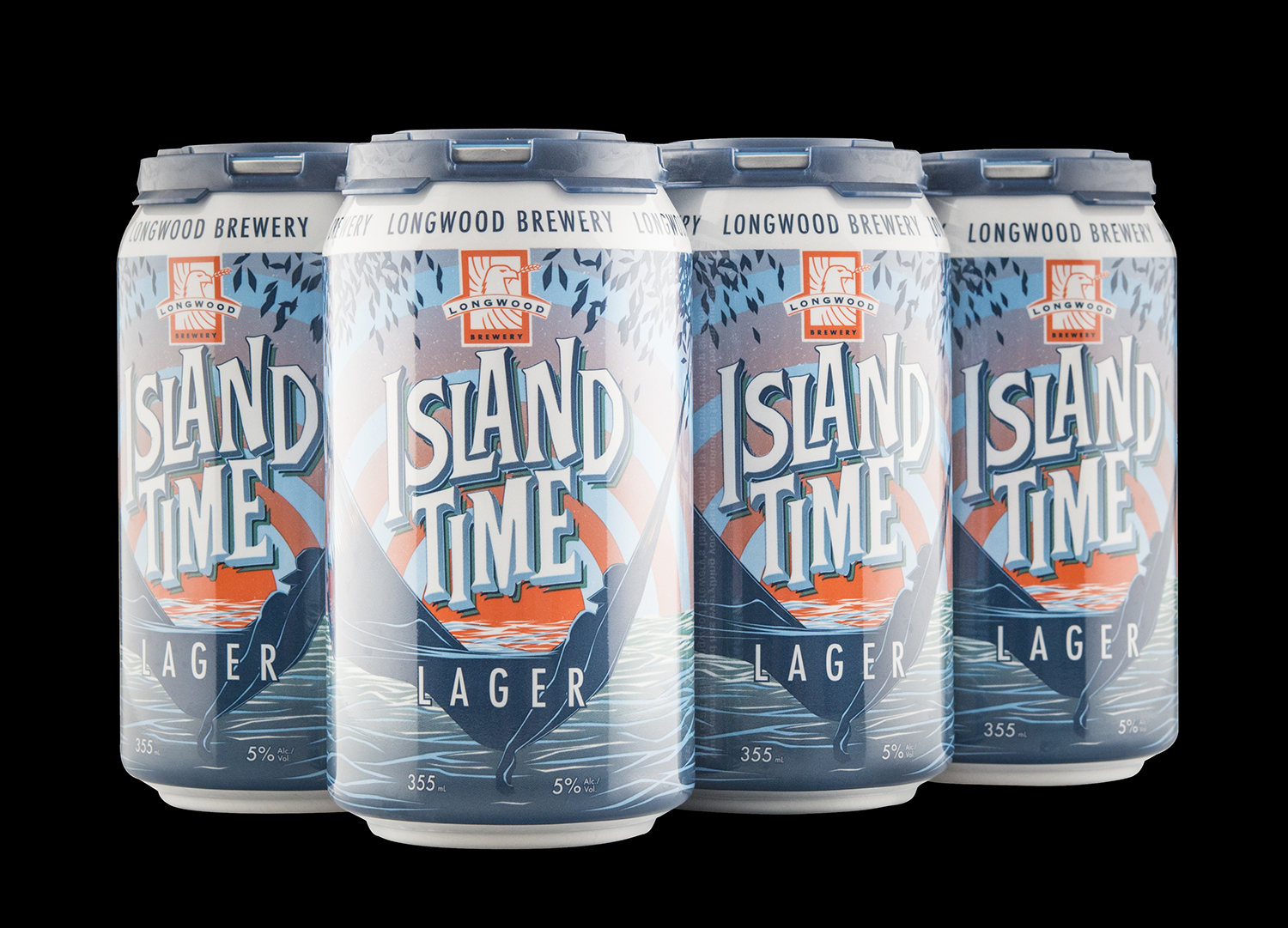 Packaging Design for Longwood Brewery's Island Time Lager