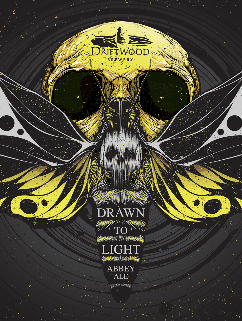 Packaging Design for Driftwood Brewery's Drawn to Light Abbey Ale