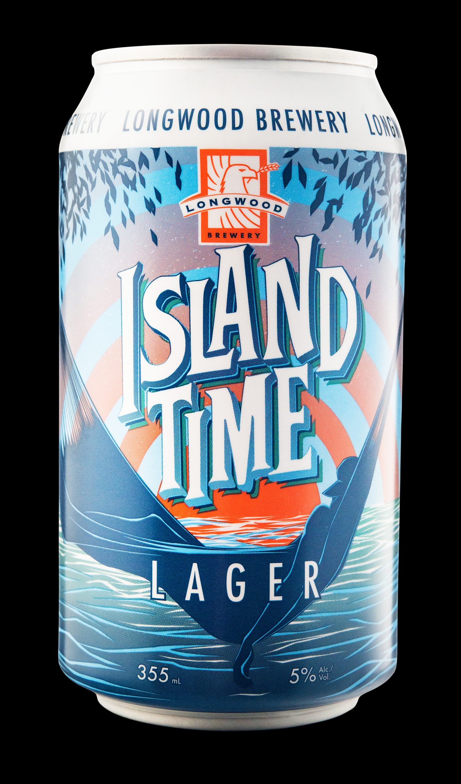 Package Design for Longwood Brewery Island Time Lager
