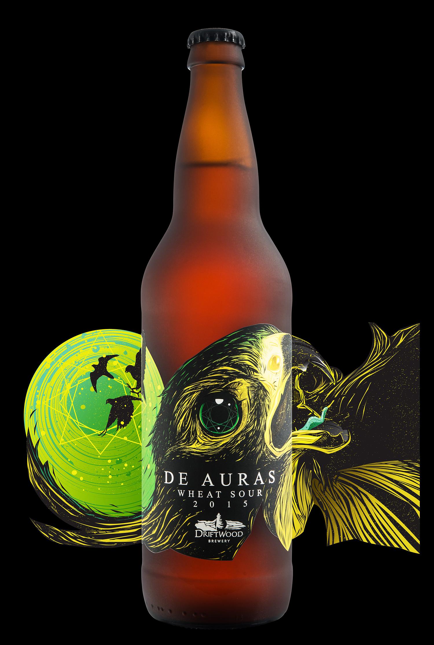 Packaging Design for Driftwood Brewery's De Auras Wheat Sour