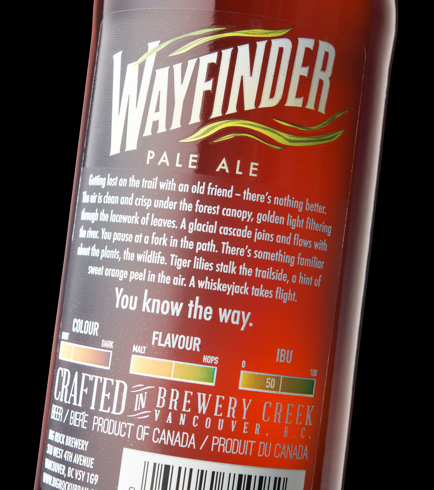 Packaging Design for Big Rock Brewery's Wayfinder Pale Ale