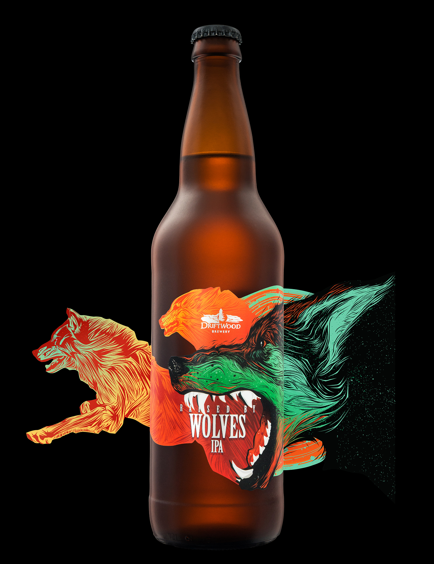 Packaging Design for Driftwood Brewery's Raised By Wolves Wild IPA
