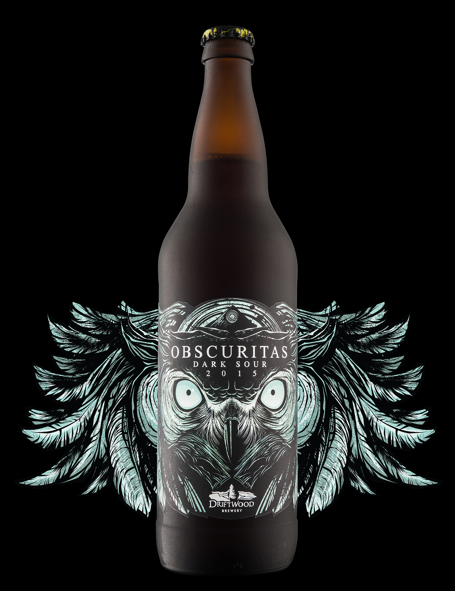 Packaging Design for Driftwood Brewery's Obscuritas Dark Sour