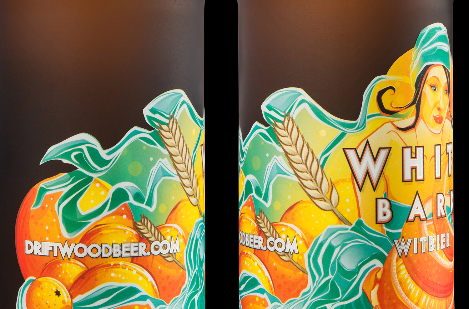 Packaging Design for Driftwood Brewery's White Bark Witbier