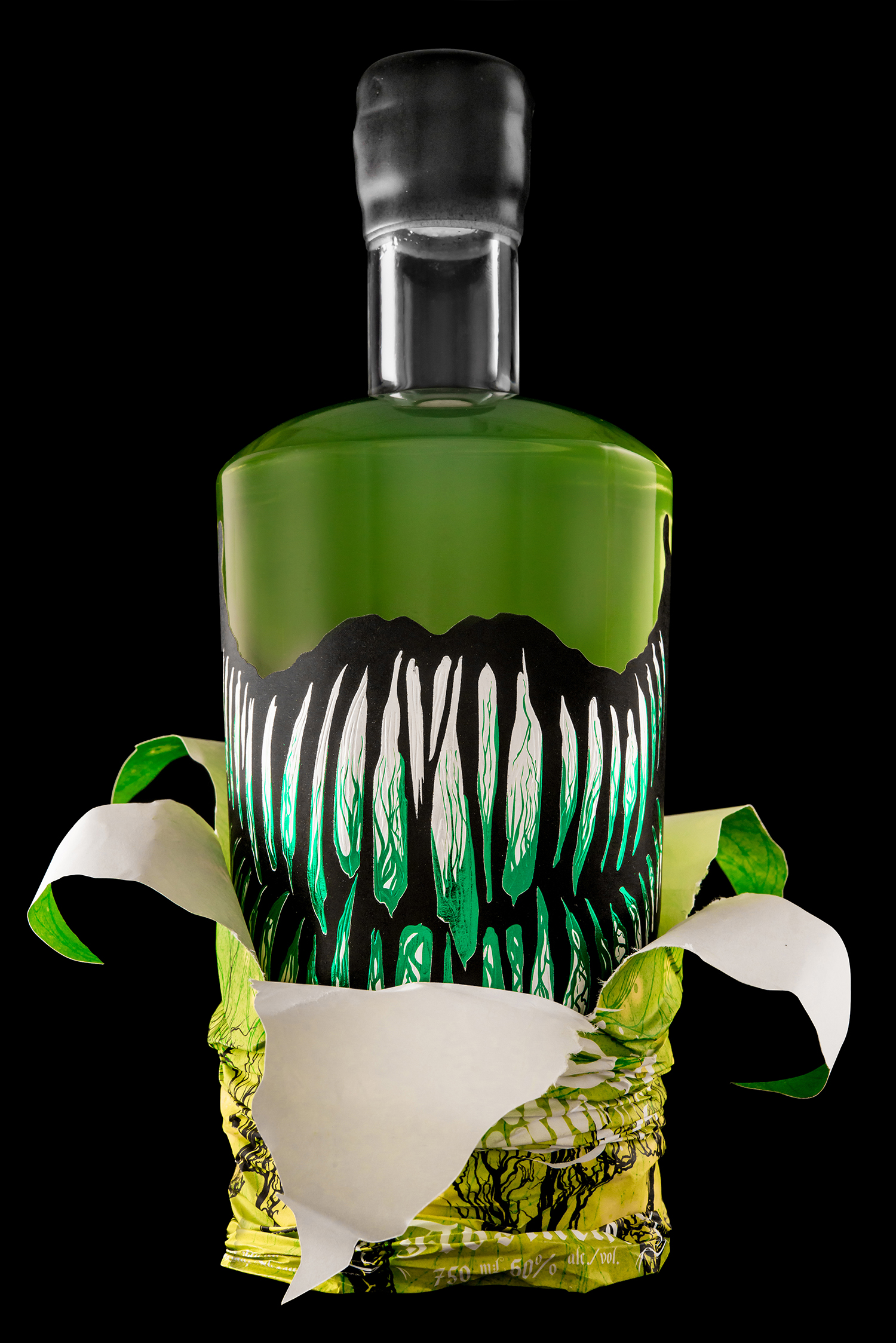 Packaging Design for Arbutus Distillery's Baba Yaga Absinthe