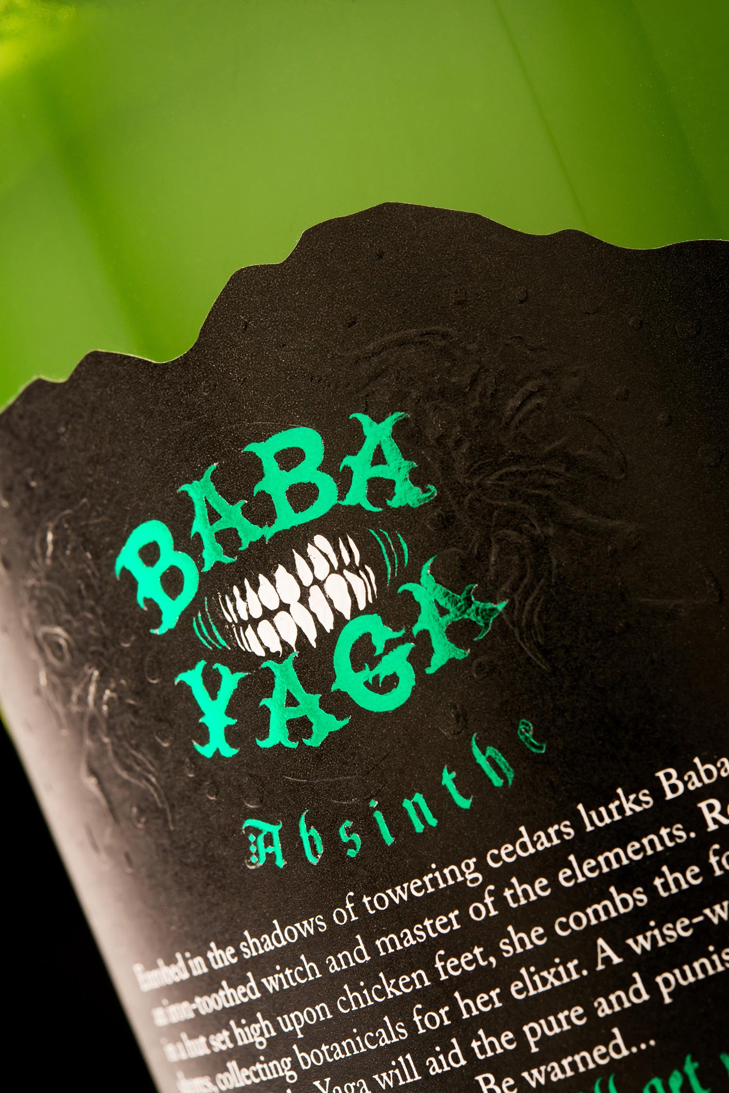 Packaging Design for Arbutus Distillery's Baba Yaga Absinthe