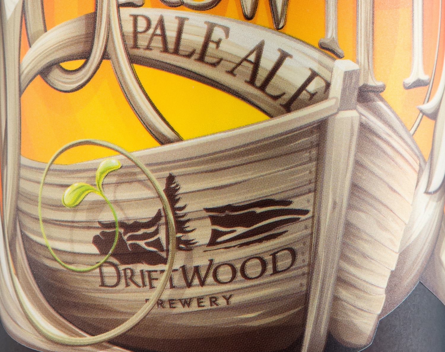 Packaging Design for Driftwood Brewery's New Growth Pale Ale