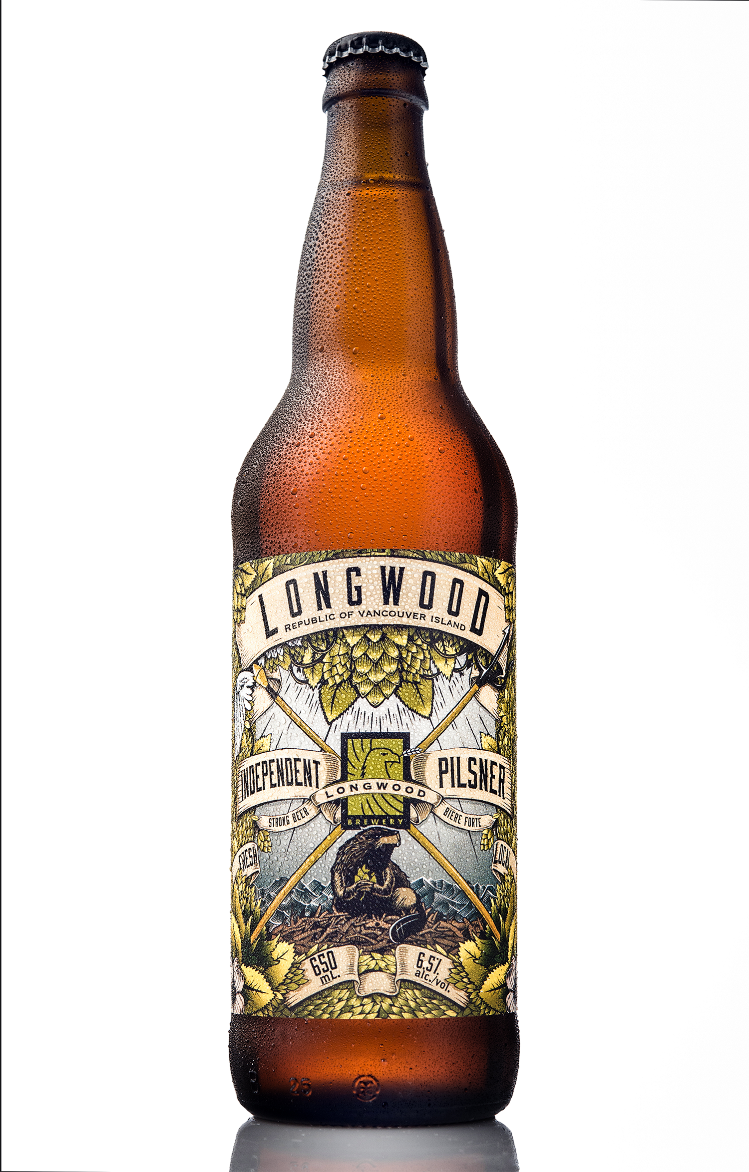 Packaging Design for Longwood Brewery's Independent Pilsner