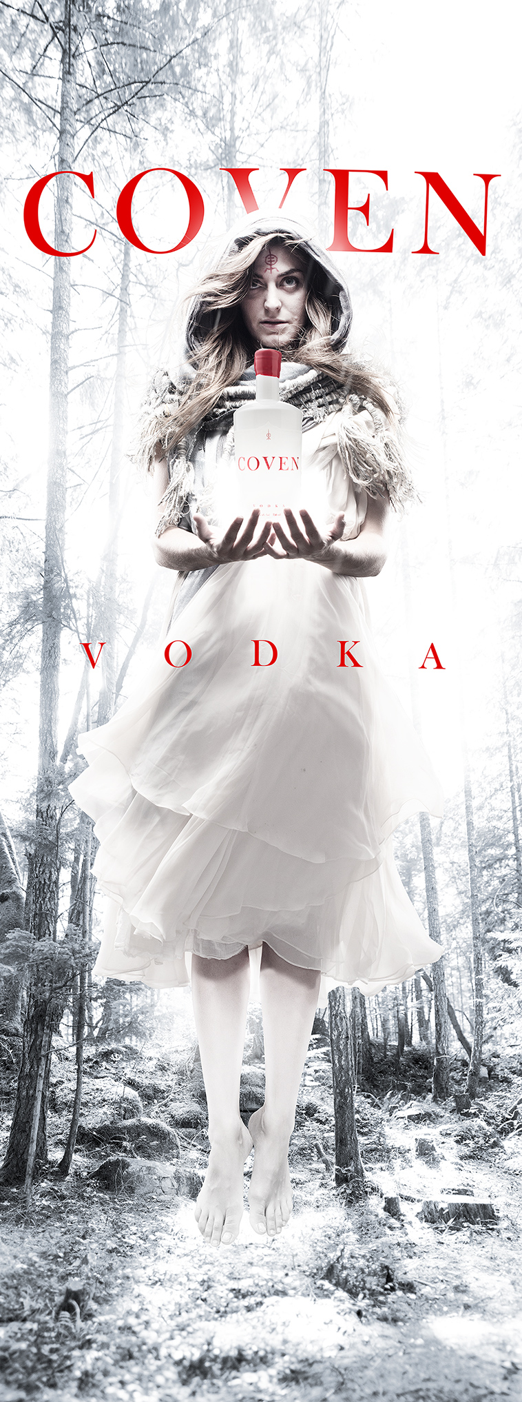 Poster for Arbutus Distillery's Coven Vodka