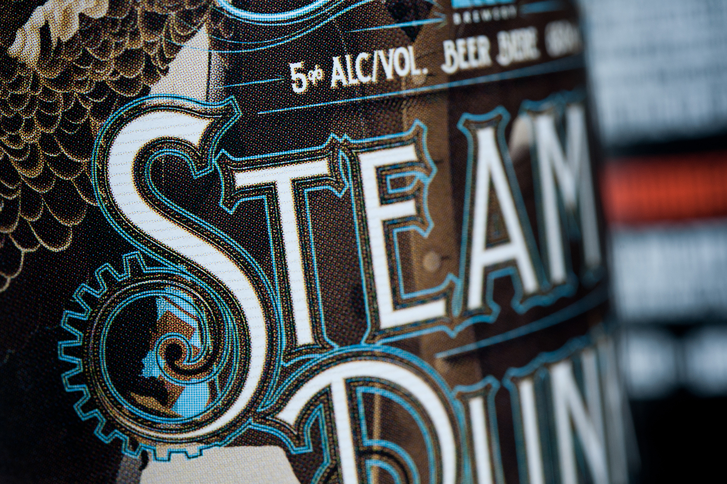 Packaging Design for Longwood Brewery's Steampunk Dunkel