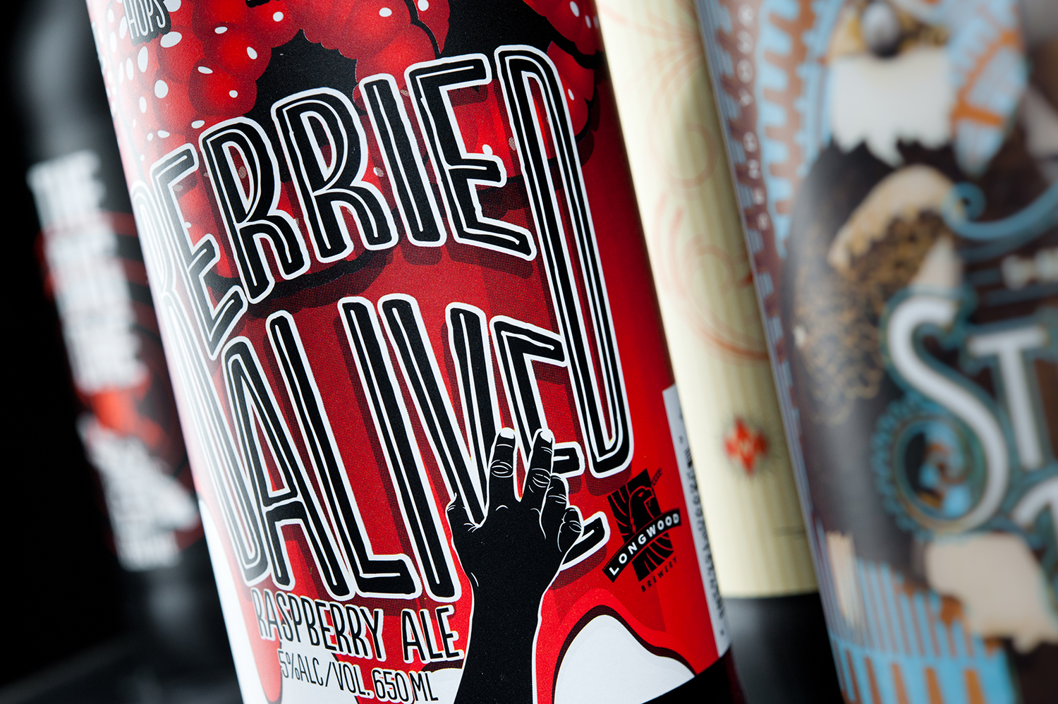 Packaging Design for Longwood Brewery's Berried Alive Raspberry Ale