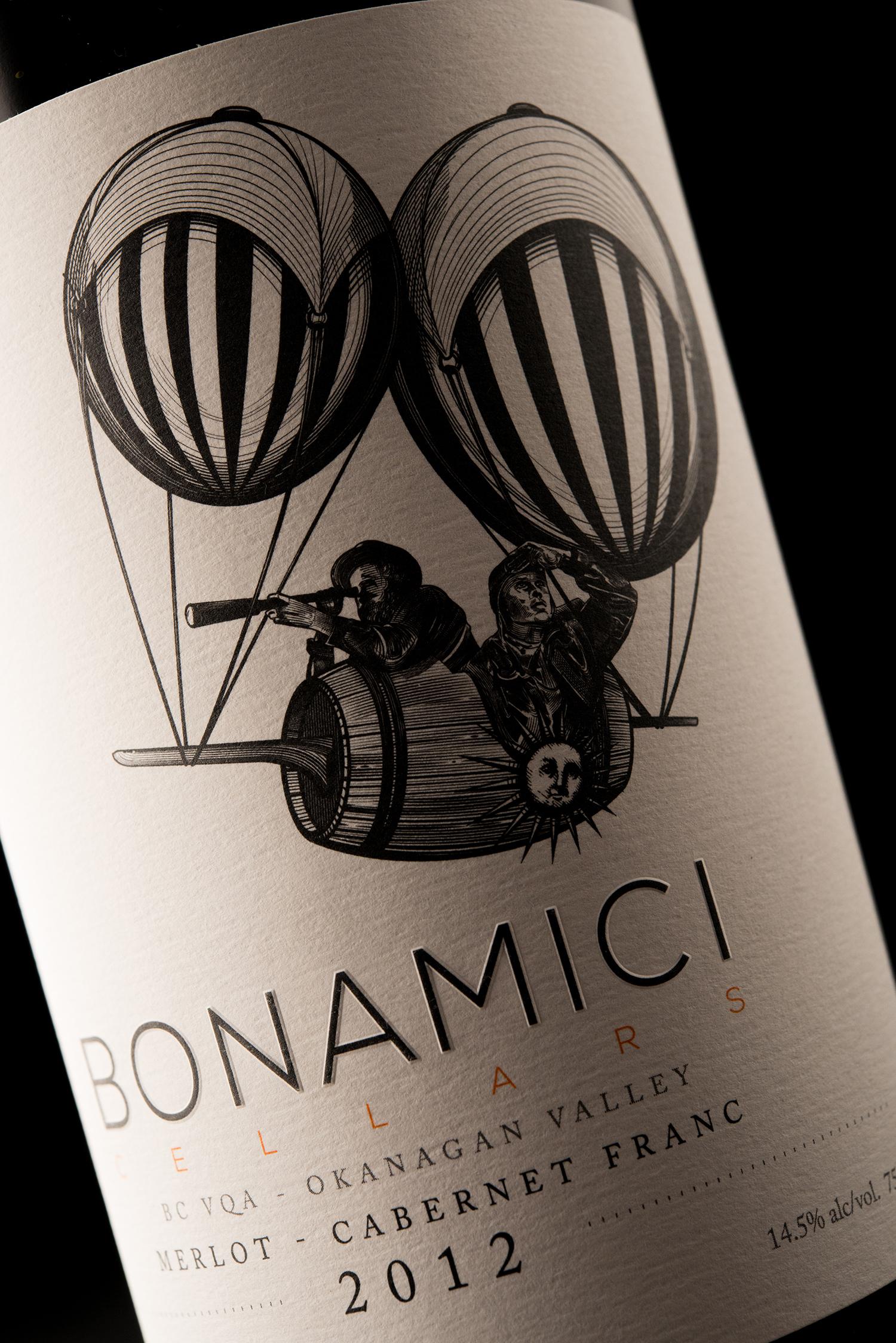 Packaging and Branding Design for Bonamici Cellars