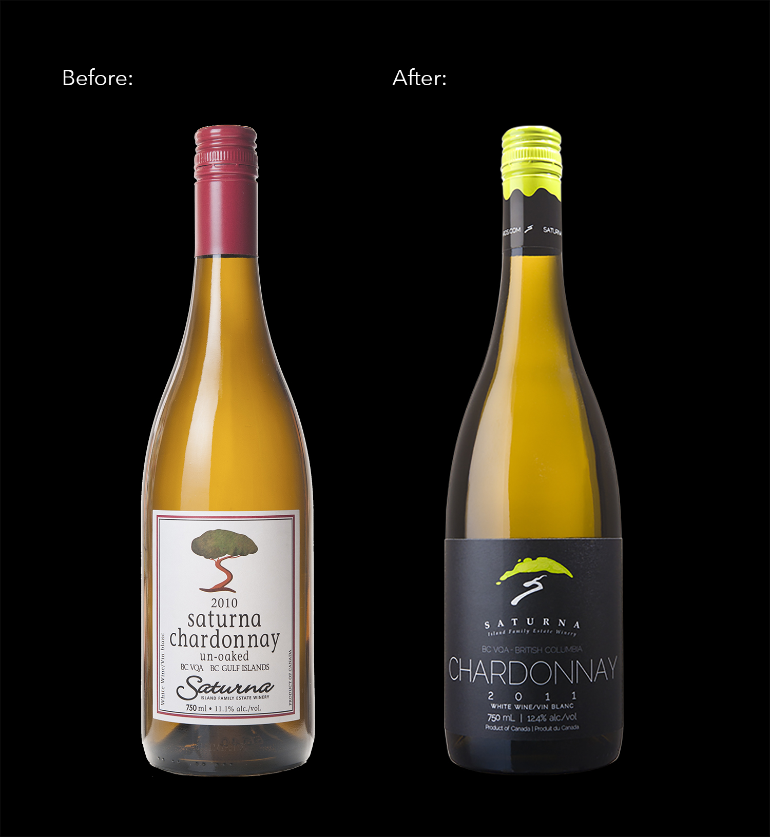 Packaging and Branding Design for Saturna Island Winery