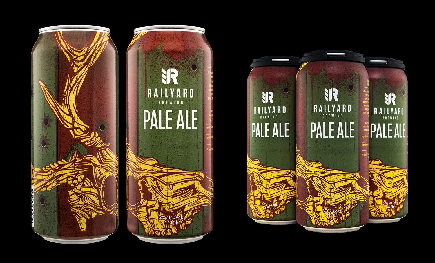 Branding and Packaging Design for Railyard Brewing