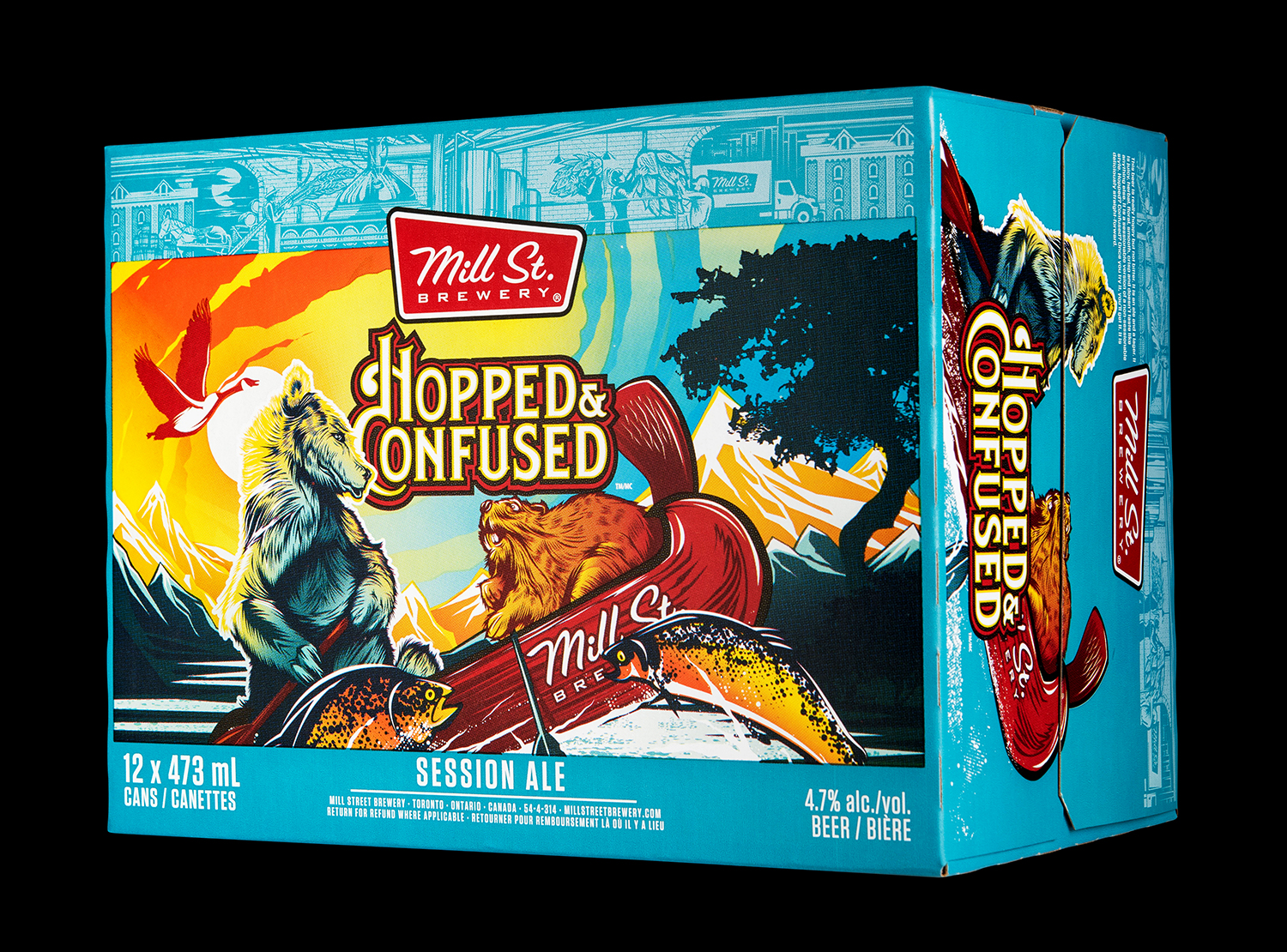 Mill Street Brewing Branding and Packaging 2018 Seasonal Release Hopped and Confused Session Ale