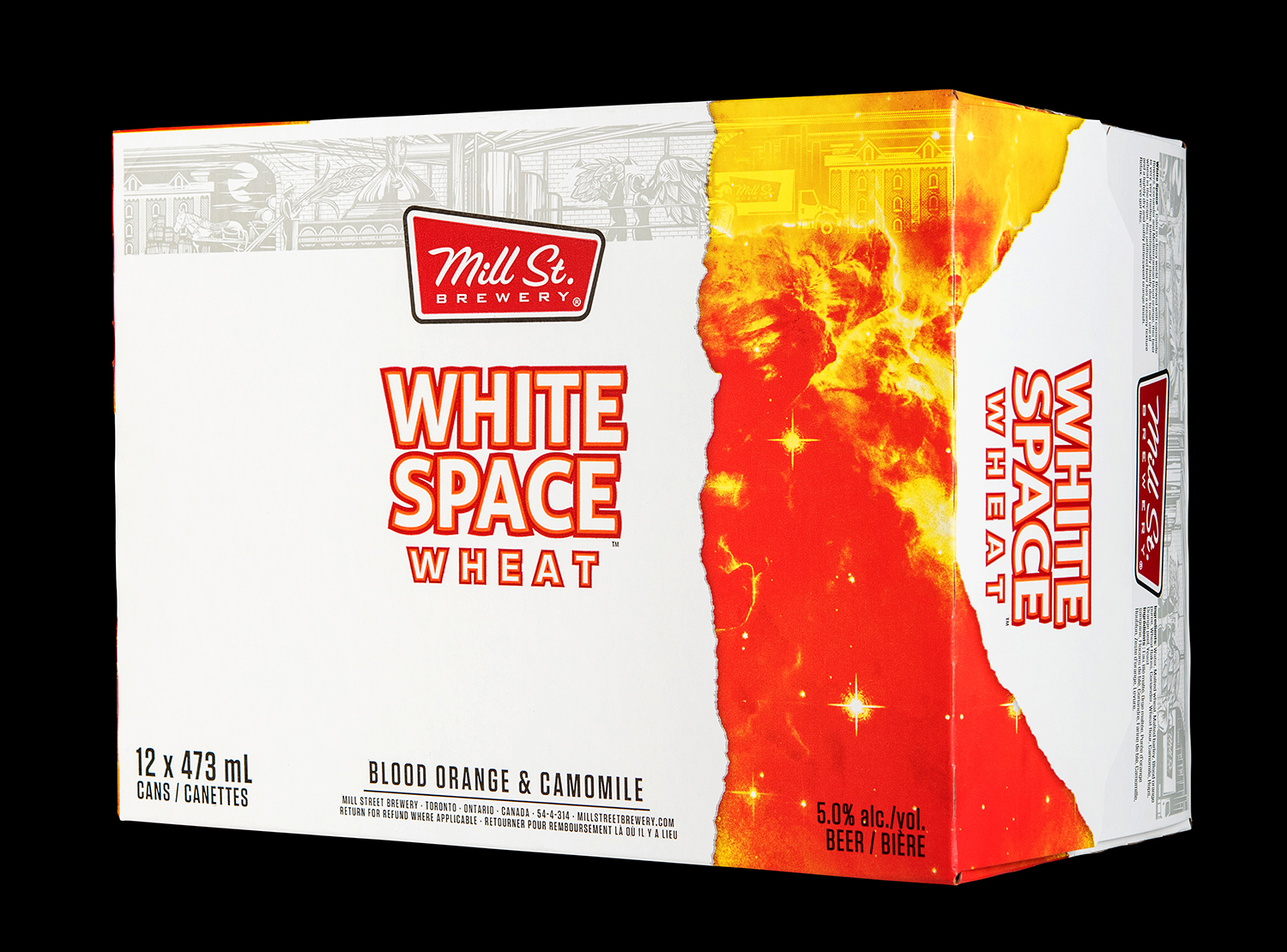 Mill Street Brewing Branding and Packaging 2018 Seasonal Release White Space Wheat