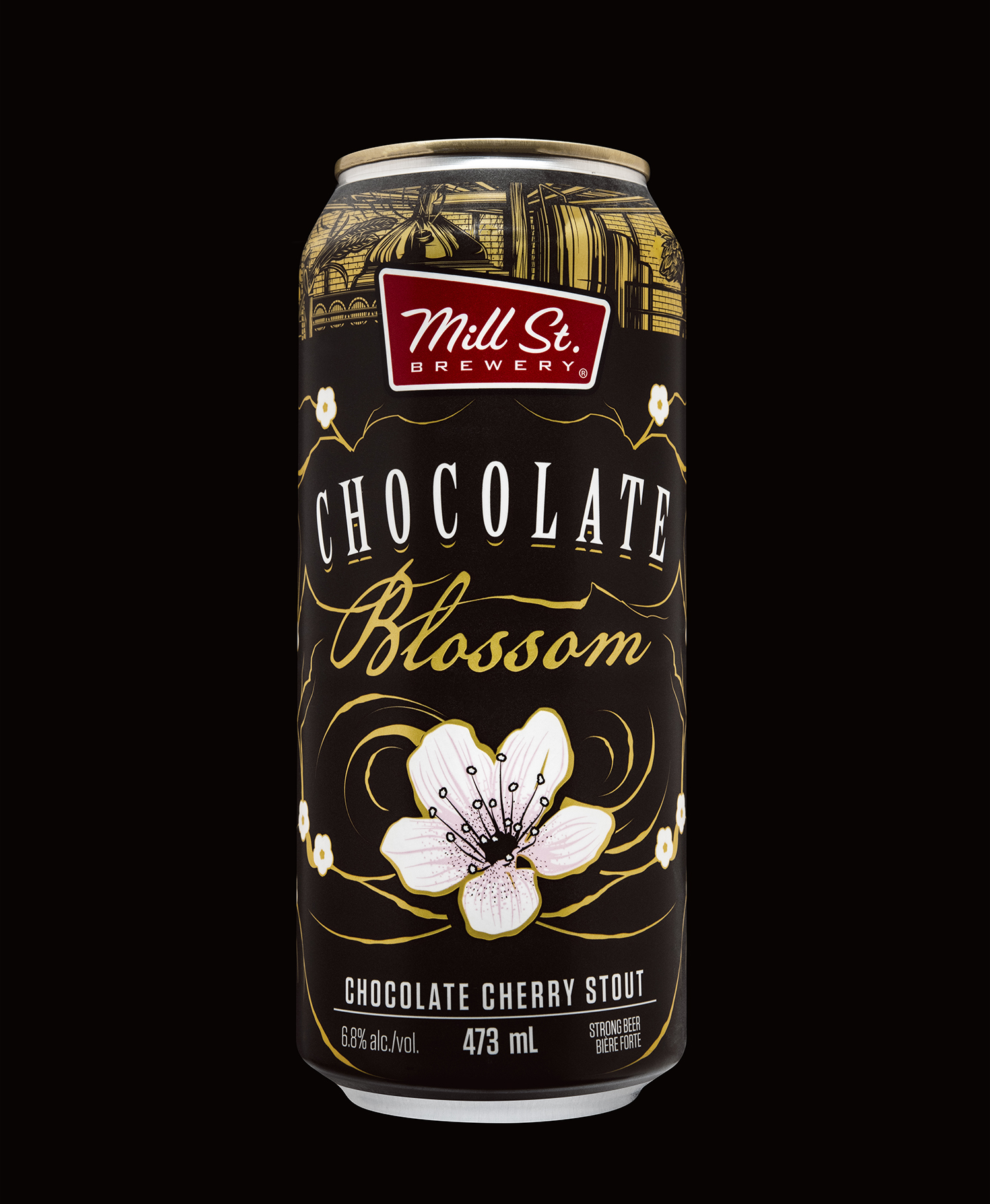 Mill Street Brewing Branding and Packaging 2018 Seasonal Release Chocolate Blossom Cherry Stout